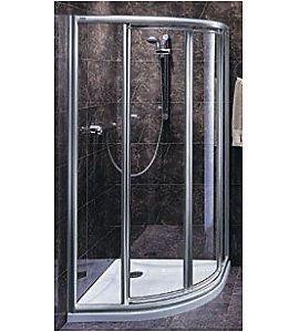 Kabina prysznicowa koło 80x80 AKODR - szkło fale