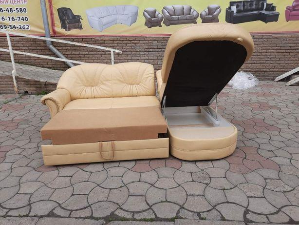 """Кожаный угловой диван со спальным местом """"Camei"""" из Германии! (270518)"""