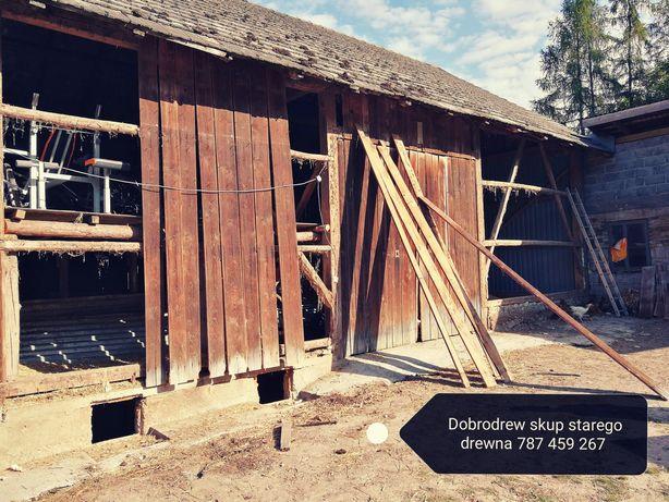 skup starych desek deski drewna rozbiórka rozbiórki stodół stodola dom