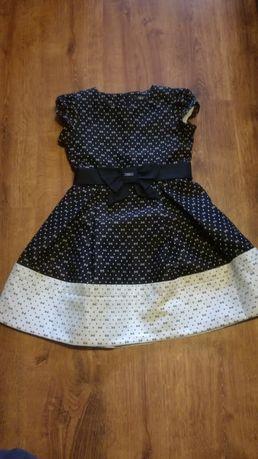 Sukienka 152cm czarno biała elegancka