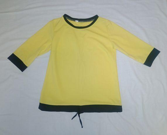Bluzka jesienna L żółta