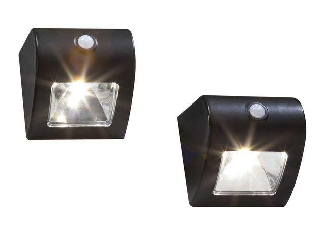 Lampa ścienna i ogrodzeniowa Wetelux Solar z czujnikiem ruchu