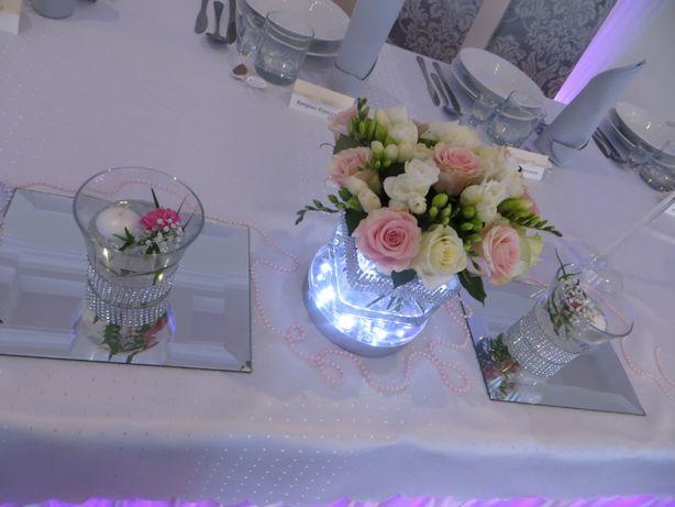 Podstawka lampka led pod wazon, świecznik duża 15 cm