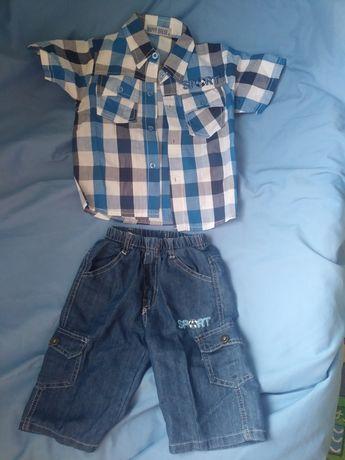 Komplet spodnie koszula 104