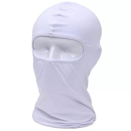 Gorro passa montanhas Branco máscara motard paintball balaclava
