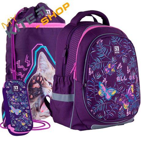 Школьный комплект 3 в1  КАЙТ KITE Рюкзак сумка пенал для девочки