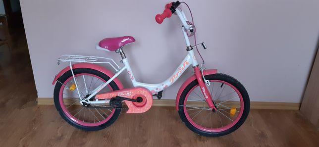 Велосипед  18 дюймов с приставными колесиками для принцессы