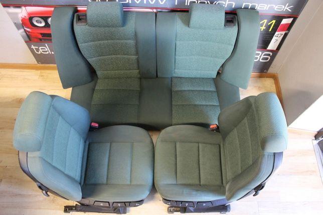 BMW E36 Fotele Kanapa Zielone Polift Compact Coupe Bdb Stan Części BMA