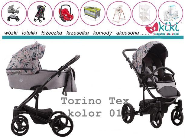 Wózek Bebetto Torino TEX 2w1 gondola spacerówka opcja 3w1
