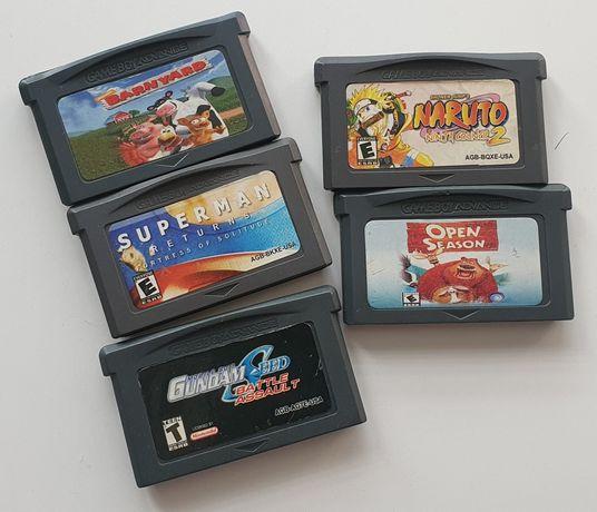 Pakiet 5 gier GBA Nintendo Game Boy Advance Naruto Super Man Gameboy