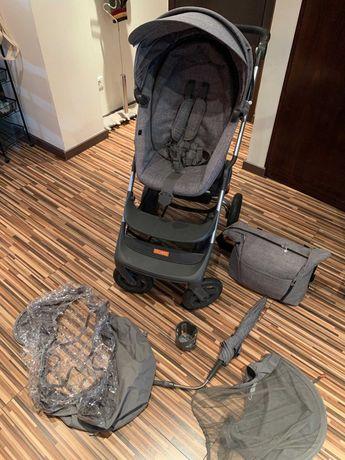 Carrinho bébé STOKKE® SCOOT™ cinza + acessórios