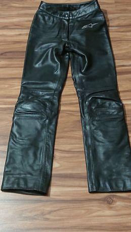 Spodnie skórzane motocyklowe damskie s