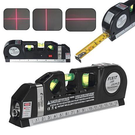 Лазерный уровень c рулеткой и линейкой level meter