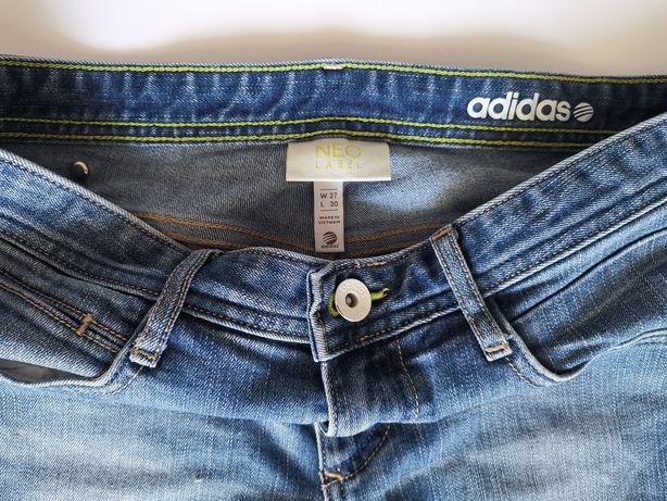 Spodnie Adidas NEO label damskie jeansy super Skinny 27/30