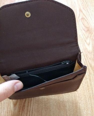 коричневий гаманець 14х10 см