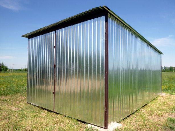 Garaż blaszany Blaszak na budowę WZMOCNIONY Garaże blaszane PRODUCENT