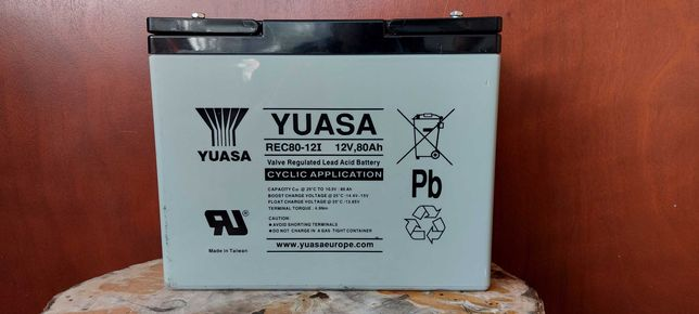 Akumulator YUASA 80Ah ŻELOWY-AGM
