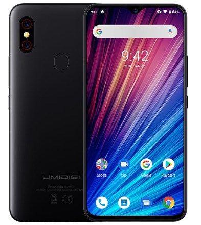 Смартфон Umidigi F1 Play Black 6/64GB 4G NFC FHD 18 Вт 5150 мАч+чехол