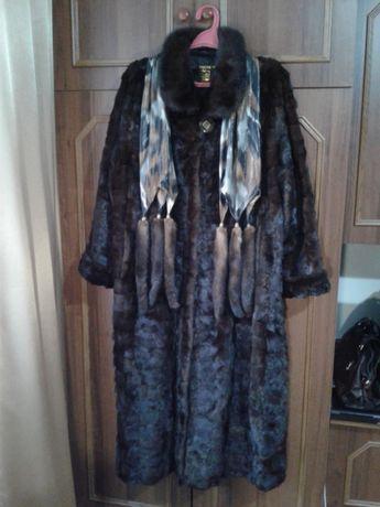 Шуба норковая , длинная + шарф