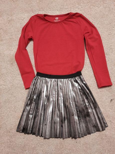 Bluzeczka H&M + spódniczka r.110/116