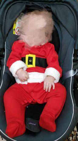 Человечек костюм новогодний Санта Клаус дед мороз на рост 62-68