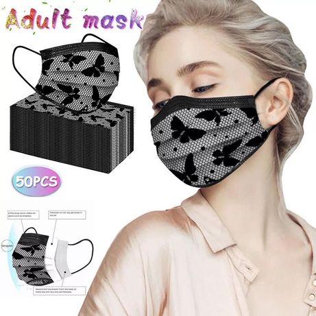 Акция маска защитная 3 -слойная .