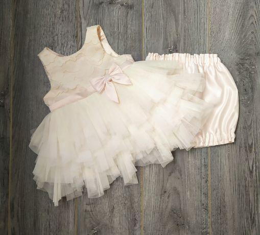 Нарядное платье на девочку 9 месяцев