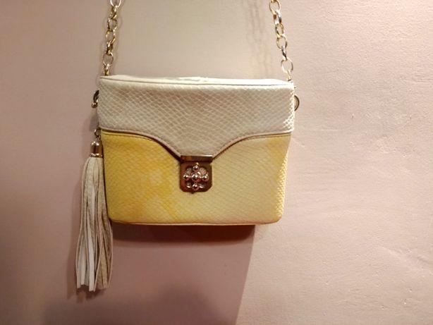 Mała żółto-beżowa torebka