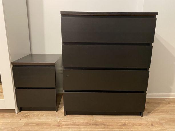 Komoda MALM + 2 szafki nocne MALM | IKEA