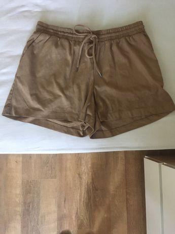 Летние шорты под замш h&m коричневого цвета