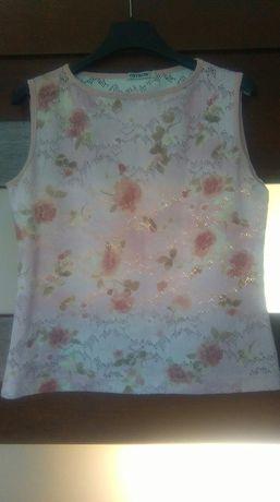 Bluzka koronkowa w kwiaty 40