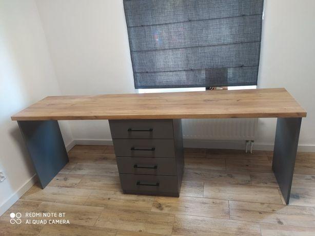 industrialne biurko dwustanowiskowe
