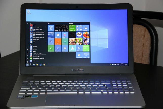 Portátil Asus i7 3.5Ghz 2 discos, SSD + HDD, roda qualquer jogo C.NOVO
