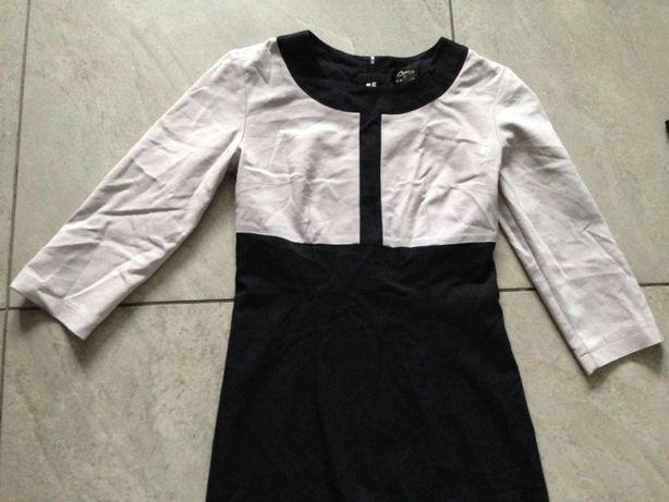 Sukienka czarna ekri S ORSAY