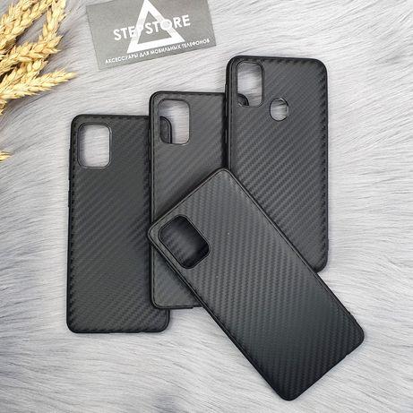 Чехол карбоновый Carbon для Samsung M30s M21 A31 A51 A71