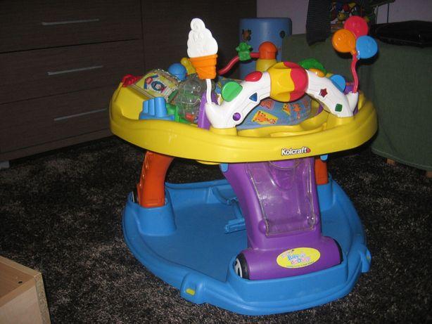 Chodzik dziecięcy 3 w 1 z interaktywnym panelem z zabawkami