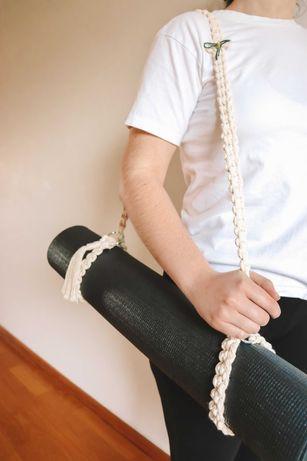 Alça para tapete Yoga em macramé - NOVO