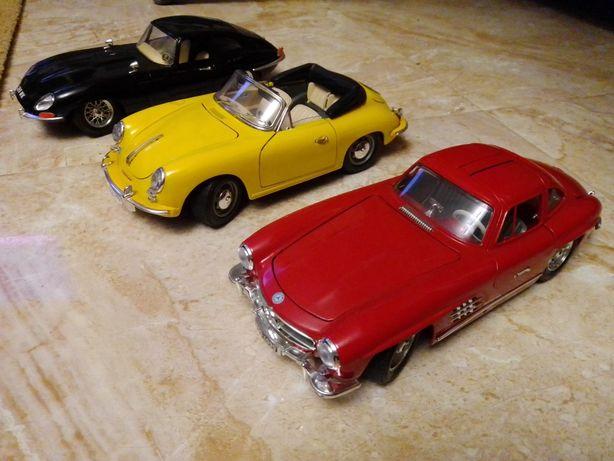 Miniaturas Burago Jaguar E Type/Porsche 356 Cabrio/Mercedes Benz 300SL