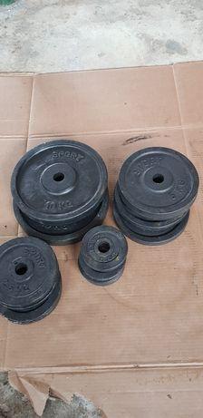 Obciążenie  55 kg na hantle gryf  siłownie