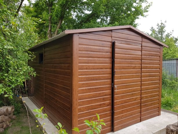 garaż blaszany blaszak garaż na budowę schowek konstrukcja stalowa 4x6