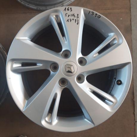 163 Felgi Aluminiowe ORYGINAŁ RENAULT R17 5x114.3 BARDZO ŁADNE