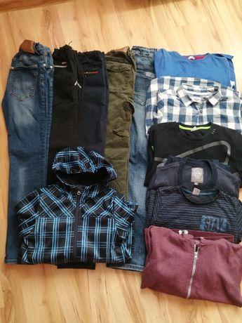 Zestaw dla chłopca na 152 spodnie bluzki kurtka softshell