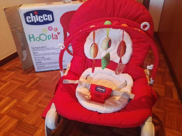 Espreguiçadeira bebé Chicco Hoopla vermelha( excelente estado)