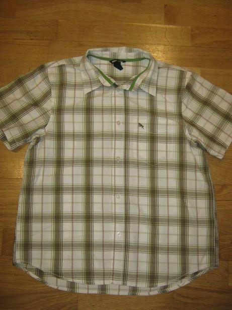Качественная хлопковая рубашка на мальчика 11-14-ти лет