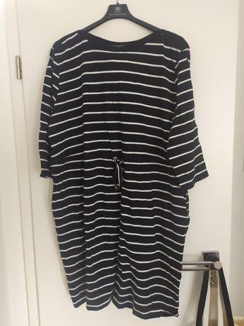 Sukienka w paski plus size r.50