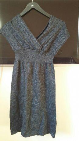 Sukienka z dzianiny brokatowa