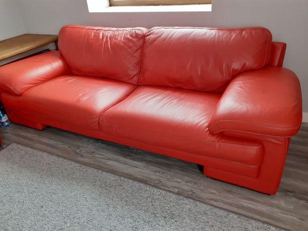 Kanapa Sofa i fotel, skóra naturalna
