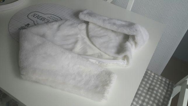 Bolerko ślubne zimowe