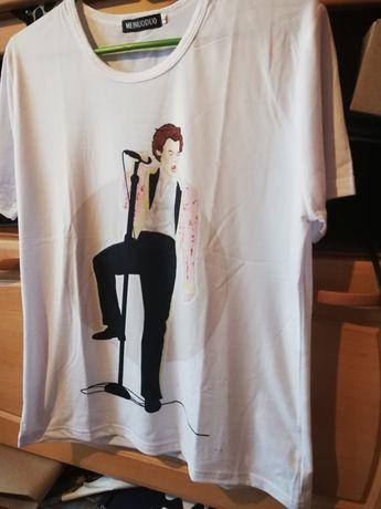 Harry Styles koszulka 1d One Direction t-shirt biała rozmiar L / M