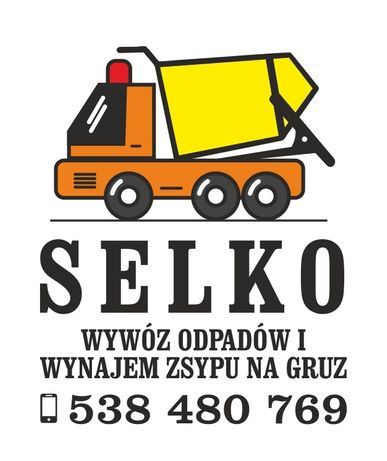 Kontenery wywóz odpadów gruzu śmieci SELKO Gorzów i okolice